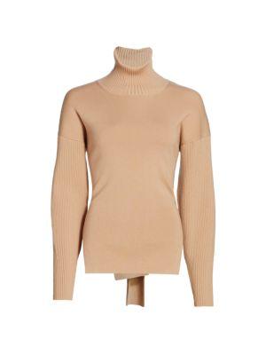 Eleanor Tie-Back Turtleneck Sweater
