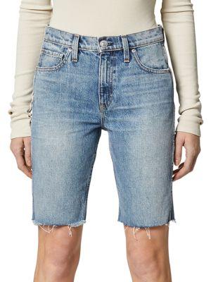 Freya High-Rise Denim Biker Shorts