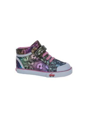 Baby's, Little Girl's & Girl's Peyton Black Shimmer Sneakers