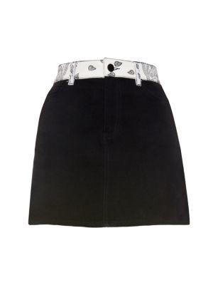 Bandana Mini Denim Skirt
