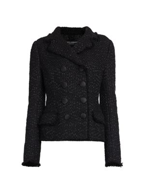 Boucle Double Breasted Jacket