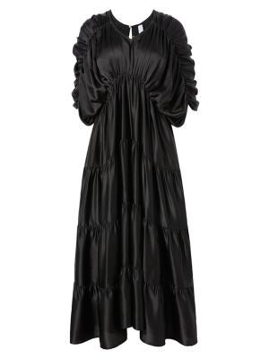 Tiered Empire Waist Midi Dress