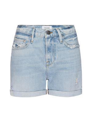Le Beau High-Rise Denim Shorts