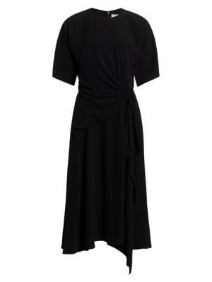 Side Draped Midi Dress