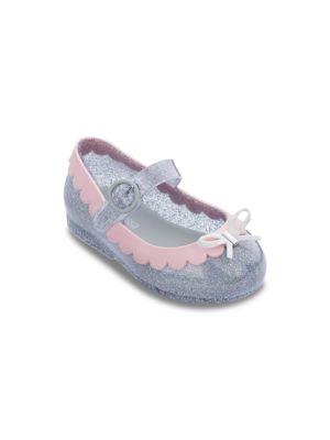 Baby's, Little Girl's & Girl's Iridescent Bow Ballet Flats
