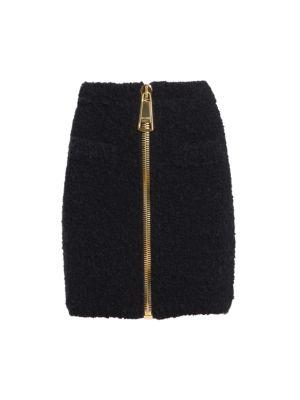 Oversized Zip Fluffy Skirt