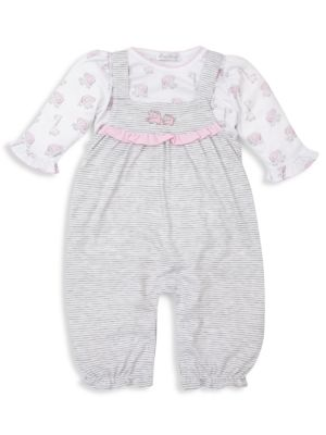 Baby Girl's 2-Piece Sappy Sidekick Coverall & Overall Set