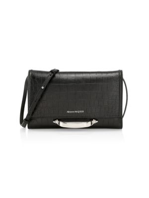 Small The Story Croc-Embossed Leather Crossbody Bag