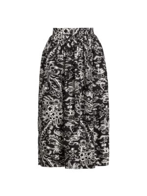 Sage Printed Midi Skirt