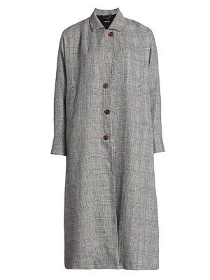 Wander Linen Trench Coat
