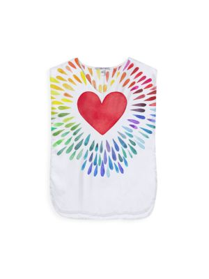 Little Girl's & Girl's Happy Hearts Cotton Cover-Up