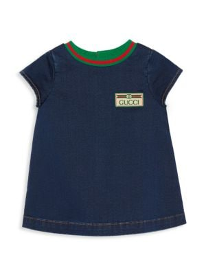 Baby Girl's Patch Short-Sleeve Dress