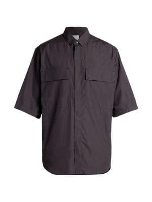Oversized Short-Sleeve Shirt
