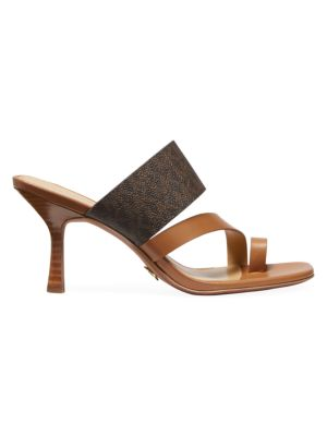 Tanner Logo Leather Mules