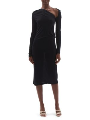 Long-Sleeve Jersey Sheath Dress