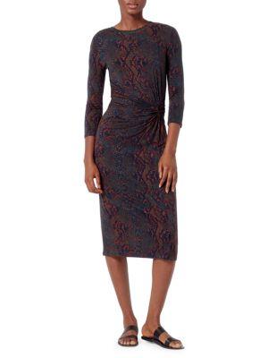 Meika Printed Midi Dress