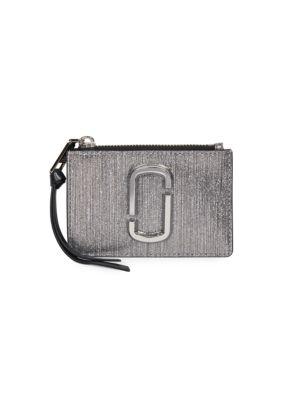 The Snapshot Metallic Leather Card Case