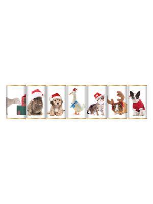 Cute Christmas Animal 7-Pack Slim Chocolate Bars