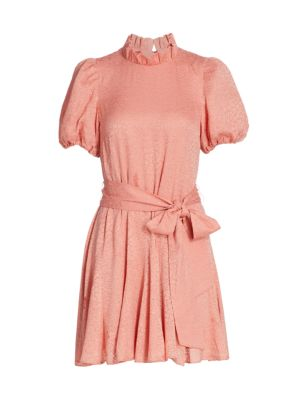 Mina Pleated Tie-Waist Dress