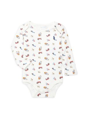 Baby Boy's Bear-Print Coverall