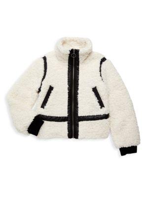 Little Girl's & Girl's Zip-Front Teddy Jacket