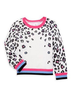 Little Girl's Leopard-Print Sweater