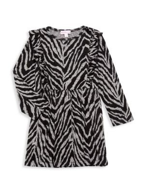 Little Girl's Ruffle Zebra-Print Dress