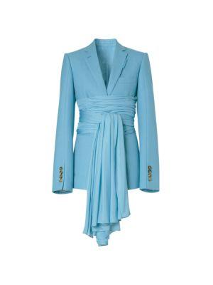 Foulard Waist Wool-Blend Jacket
