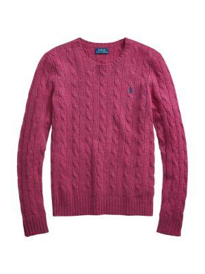 Julianna Crewneck Cable Knit Sweater