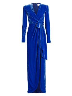 Kiley Velvet Wrap Gown