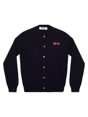 Double Heart Wool Cardigan