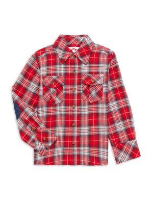 Little Boy's & Boy's Flannel Plaid Shirt