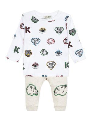 Baby's & Little Boy's 2-Piece Logo Shirt & Joggers Set