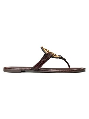 Miller Metal Leather Thong Sandals