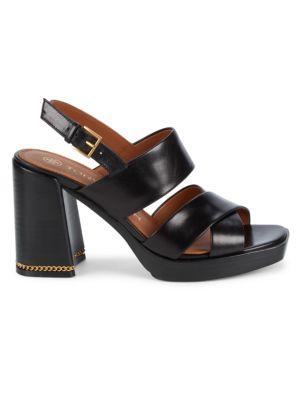 Ruby Leather Platform Slingback Sandals