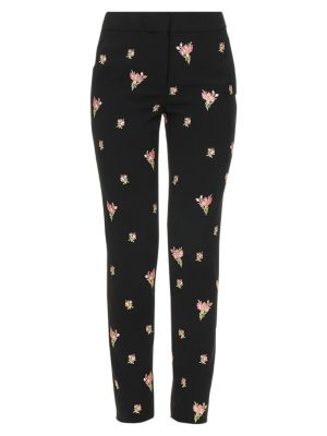 Floral Crepe Trousers