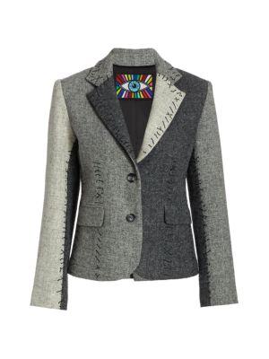 Colorblock Wool Jacket