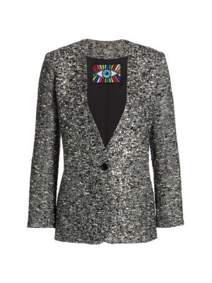 Sparkle Tweed Blazer