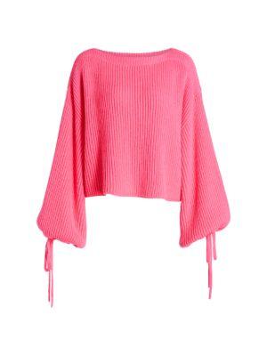 Neon Jersey Knit Sweater