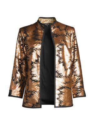 Goldtone Sequin Evening Jacket