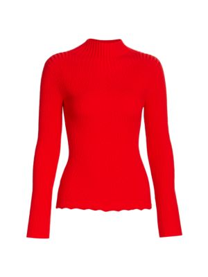 Wool Rib-Knit Turtleneck Sweater