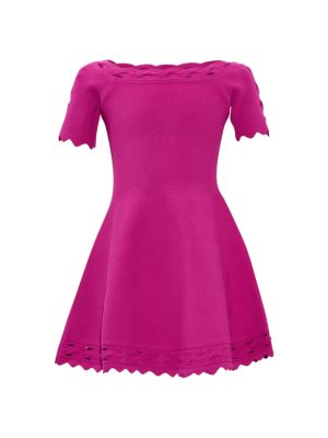 Girl's Keyhole Twist Trim Dress