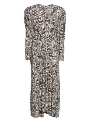 Telena Printed Long-Sleeve Dress