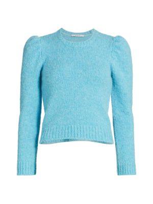 Locken Puff-Sleeve Knit Sweater