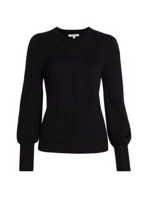 Whitney Blouson-Sleeve Sweater