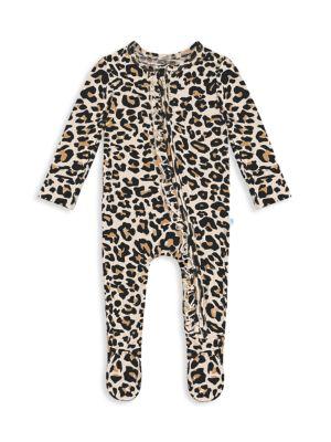 Baby Girl's Lana Leopard-Print Ruffled Footie