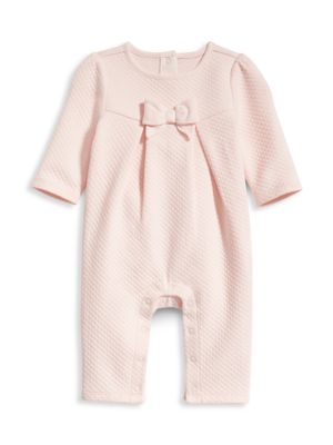 Baby Girl's Bow Coverall
