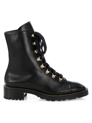 Kolbie Leather Combat Boots