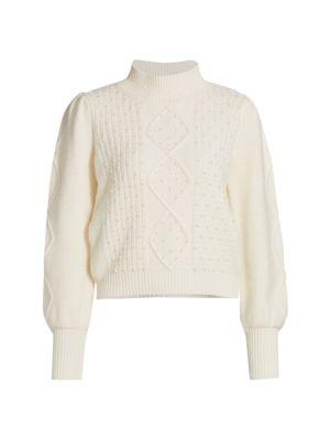 Aspen Pearl Embellished Sweater