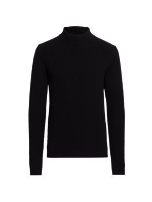 Cashmere & Wool Turtleneck Sweater